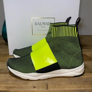Balmain Logo Sock Sneakers